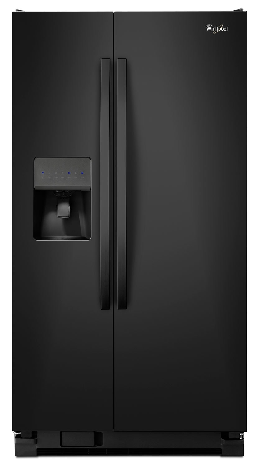 Refrigerators and Freezers - Whirlpool Black Side-by-Side Refrigerator (24.5 Cu. Ft.) - WRS325FDAB
