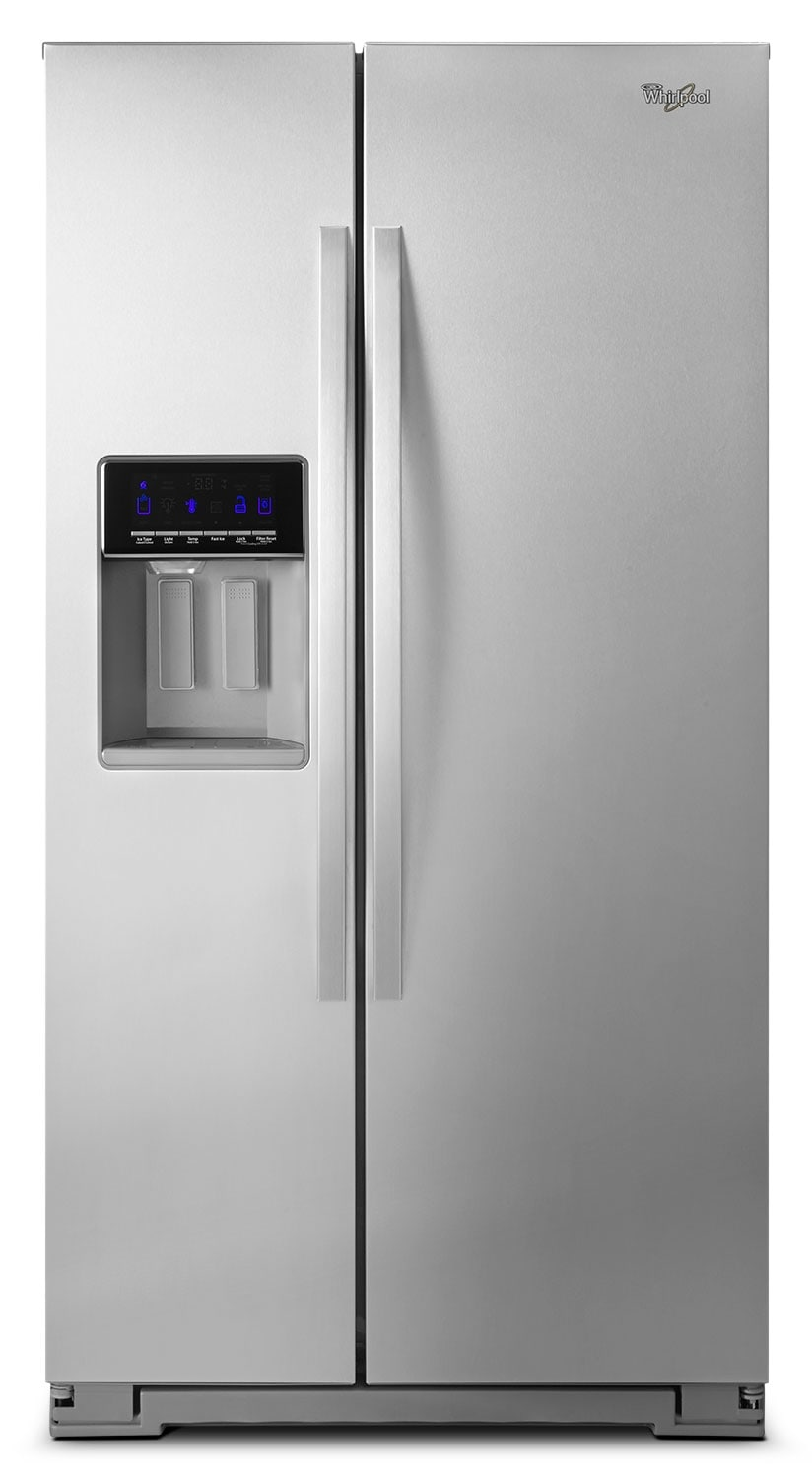[Whirlpool Stainless Steel Side-by-Side Refrigerator (20.5 Cu. Ft.) - WRS571CIDM]