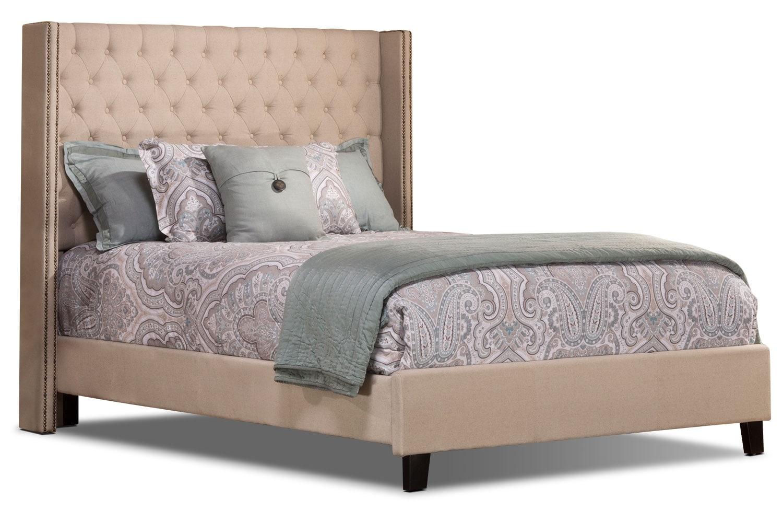 Mayfield Linen-Like Queen Bed – Cream