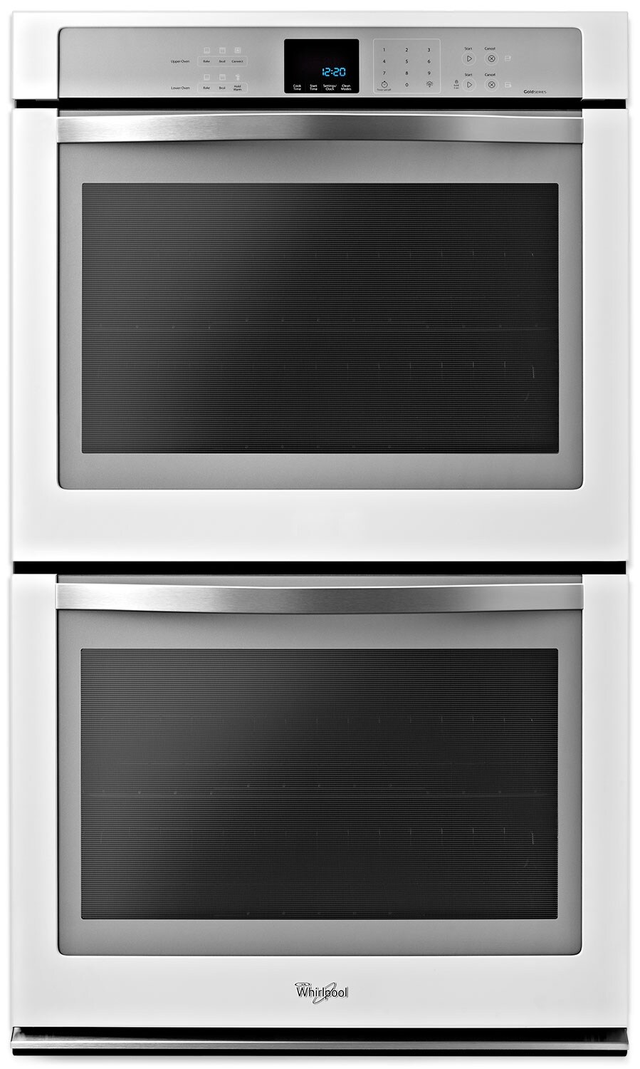 Whirlpool White Convection Double Wall Oven (10 Cu. Ft.) - WOD93EC0AH