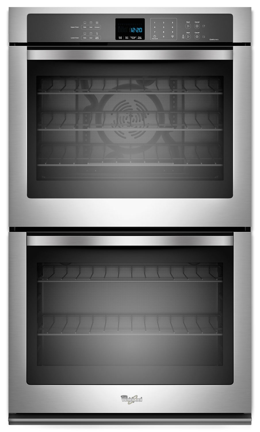 Whirlpool Stainless Steel Convection Double Wall Oven (10 Cu. Ft.) - WOD93EC0AS