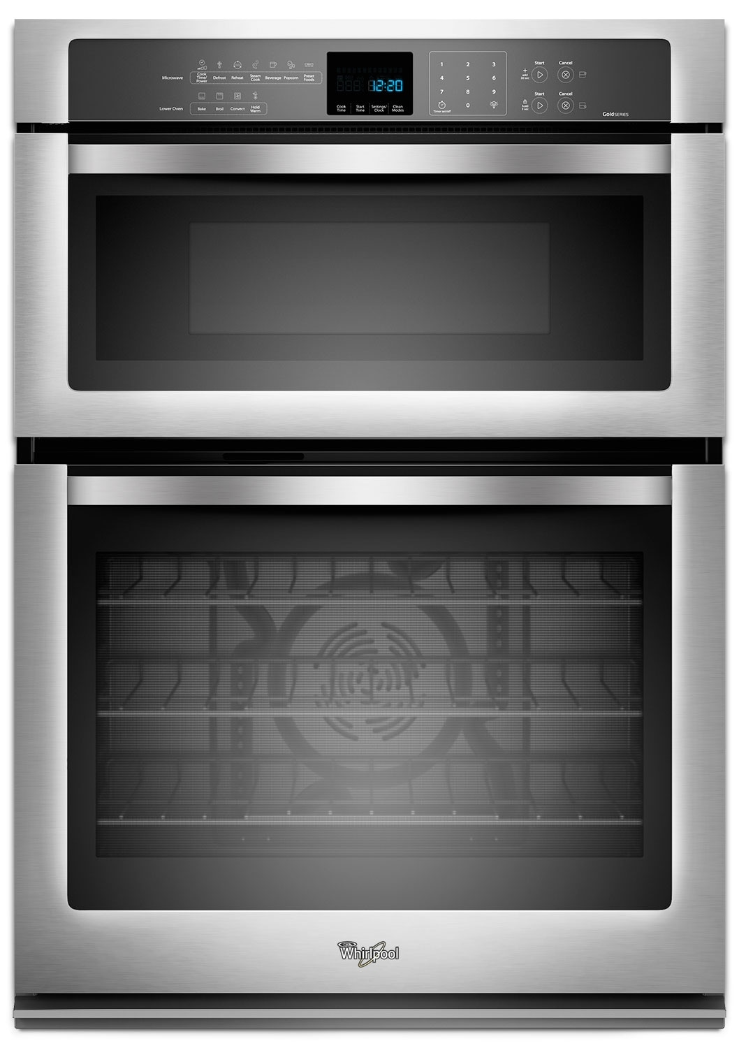 Cooking Products - Whirlpool Stainless Steel Wall Oven (5 Cu. Ft.) w/ Microwave (1.4 Cu. Ft.) - WOC95EC0AS