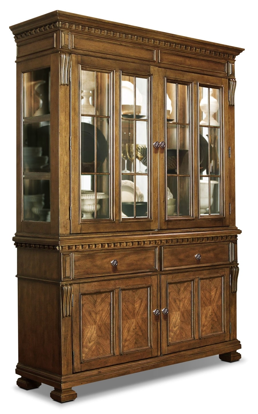 Dining Room Furniture - Clairmont Dining Buffet and Hutch Package