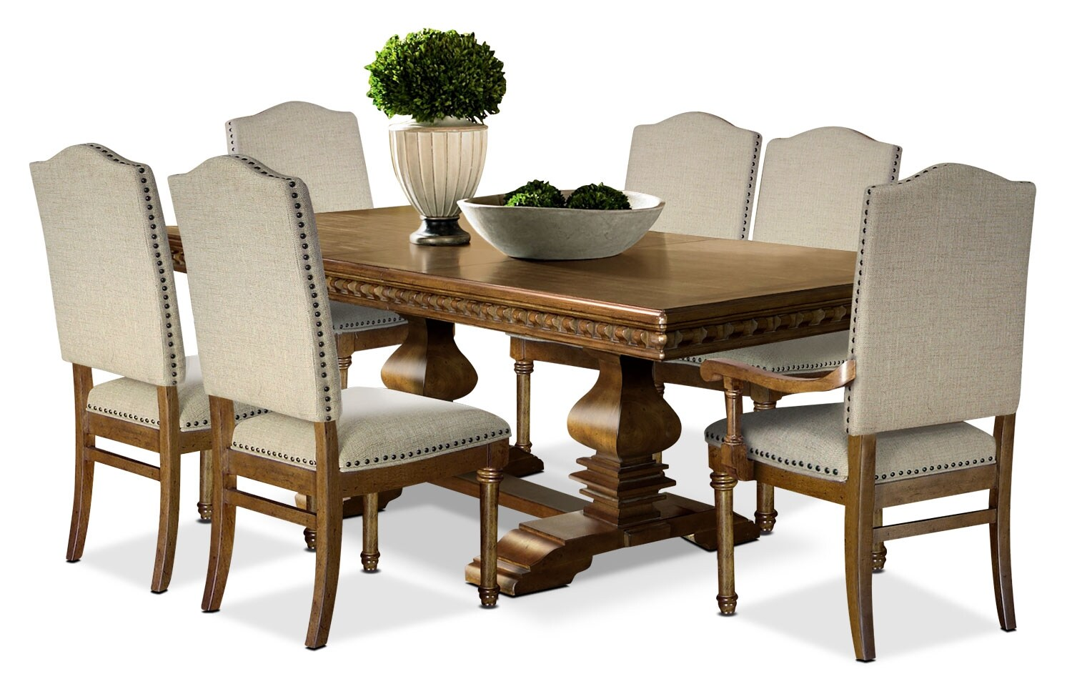 Dining Room Furniture - Clairmont 7-Piece Dining Package
