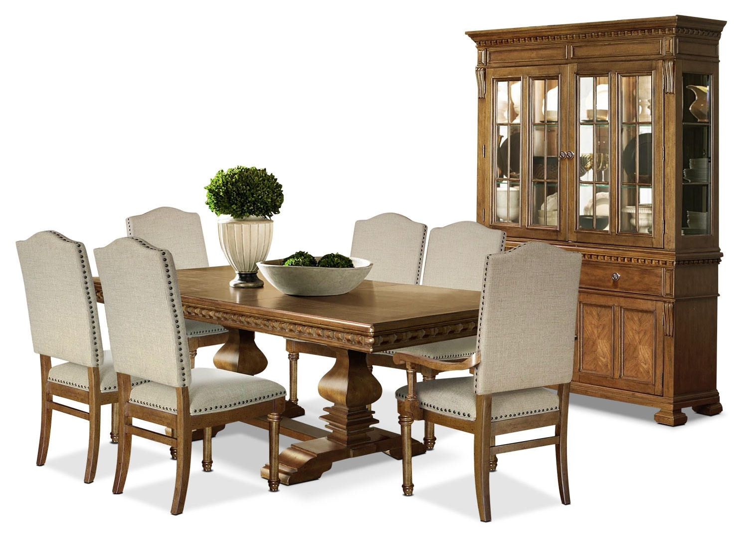 Dining Room Furniture - Clairmont 9-Piece Dining Package