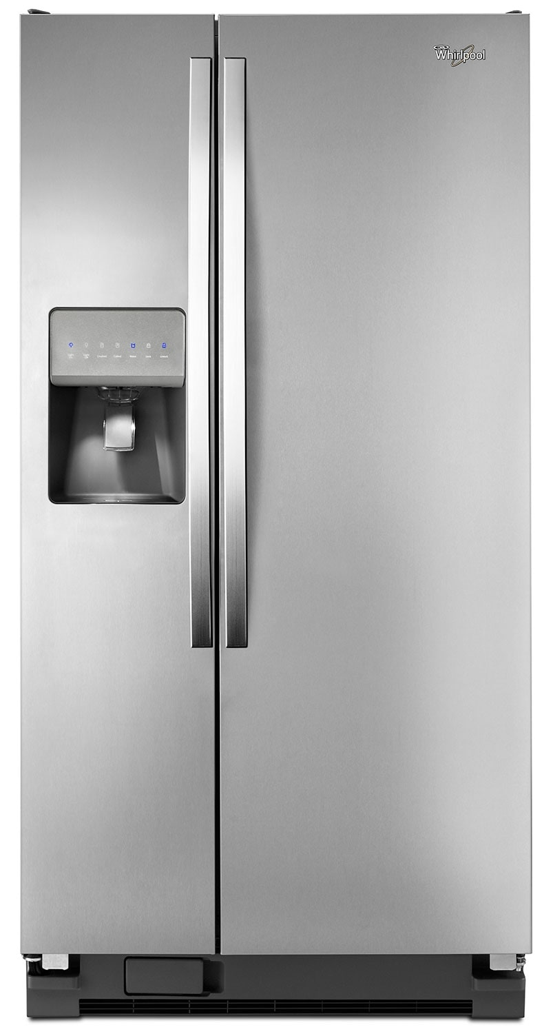 Refrigerators and Freezers - Whirlpool Stainless Steel Side-by-Side Refrigerator (21.2 Cu. Ft.)  - WRS322FDAM