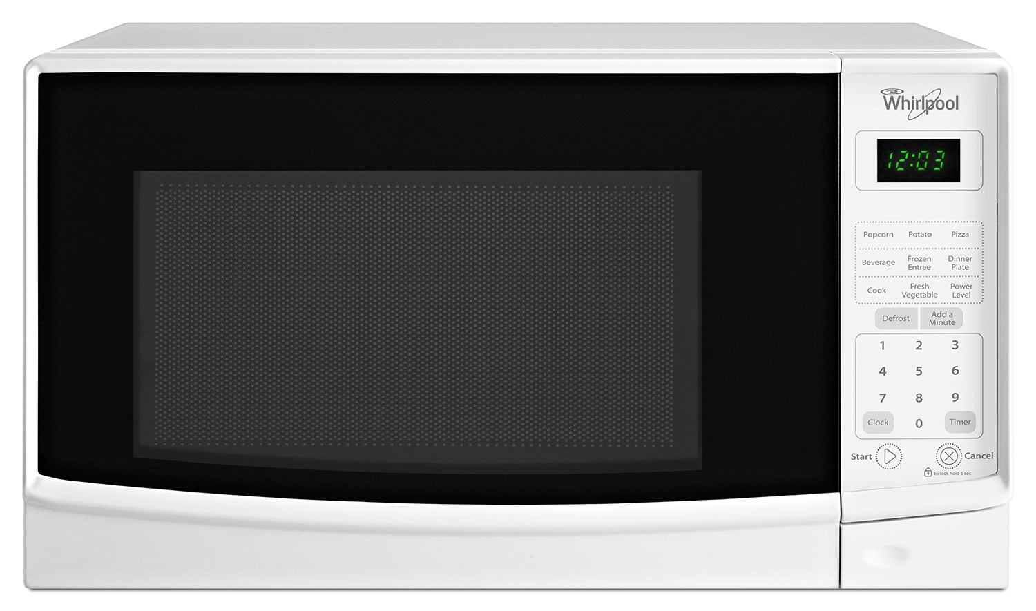 Cooking Products - Whirlpool White Microwave (0.7 Cu. Ft.) - WMC10007AW
