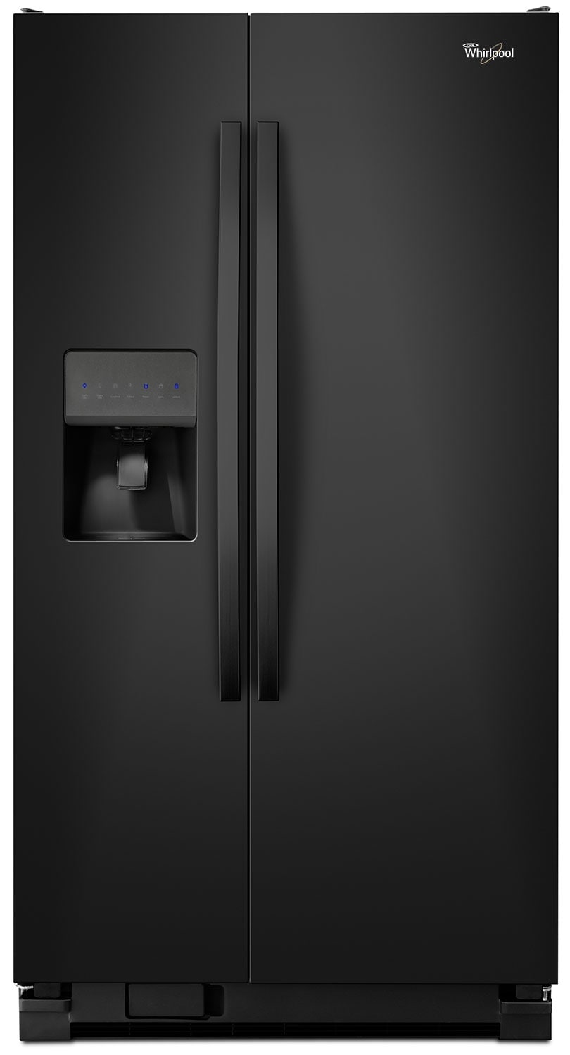 Refrigerators and Freezers - Whirlpool Black Side-by-Side Refrigerator (21.2 Cu. Ft.) - WRS331FDDB