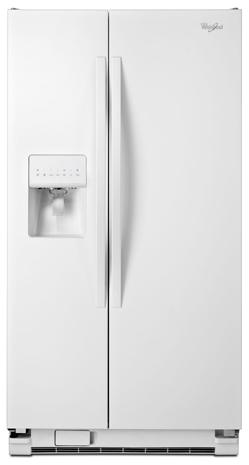 Refrigerators and Freezers - Whirlpool White Side-by-Side Refrigerator (21.2 Cu. Ft.)  - WRS322FDAW