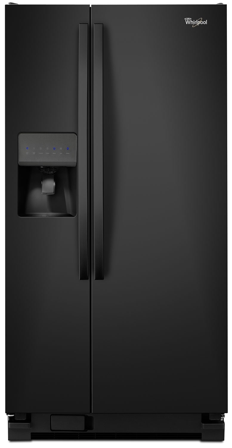 Refrigerators and Freezers - Whirlpool Black Side-by-Side Refrigerator (21.2 Cu. Ft.)  - WRS322FDAB