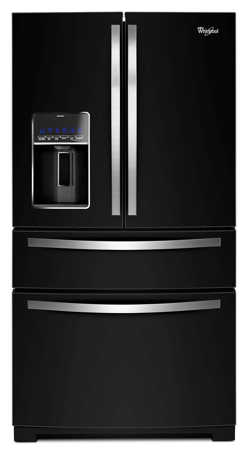 Refrigerators and Freezers - Whirlpool Black French Door Refrigerator (26.2 Cu. Ft.) - WRX988SIBE