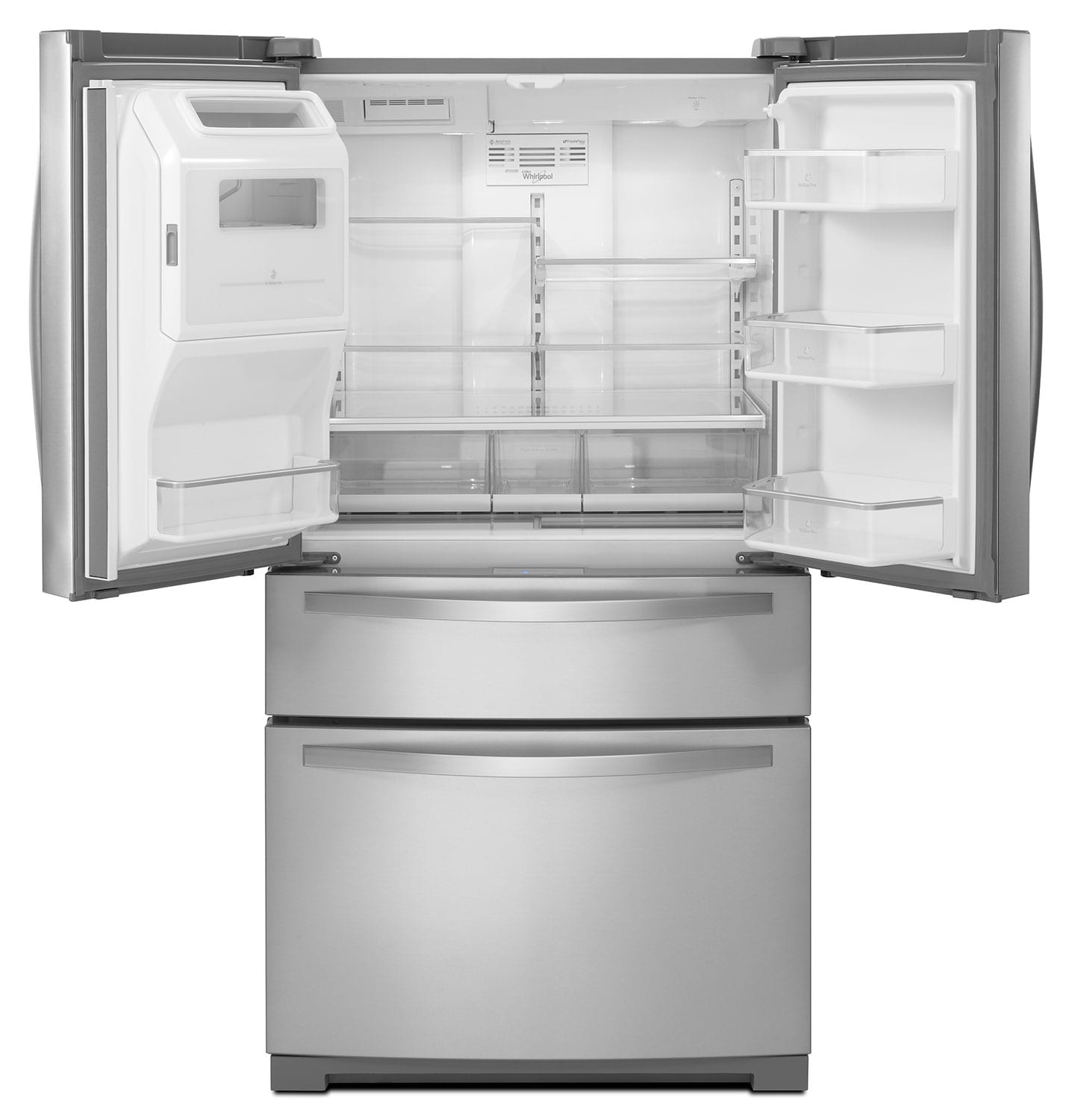 French Door Refrigerators: Whirlpool Stainless Steel French Door Refrigerator (26.2