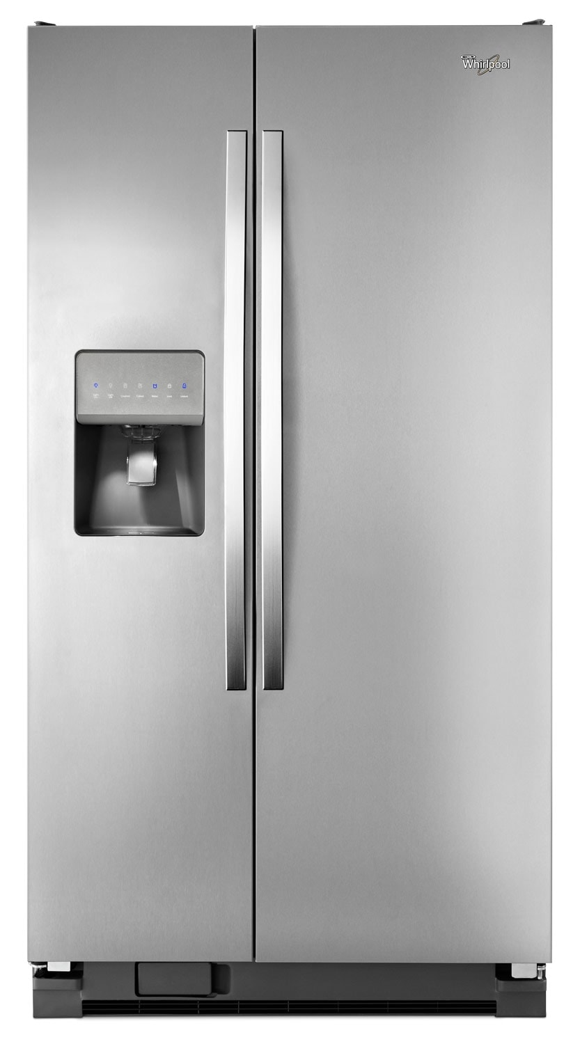 Refrigerators and Freezers - Whirlpool Stainless Steel Side-by-Side Refrigerator (24.5 Cu. Ft.) - WRS335FDDM