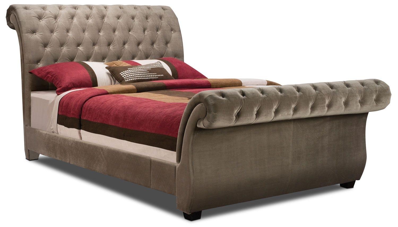 Bedroom Furniture - Westminster Polyester Velvet Queen Bed