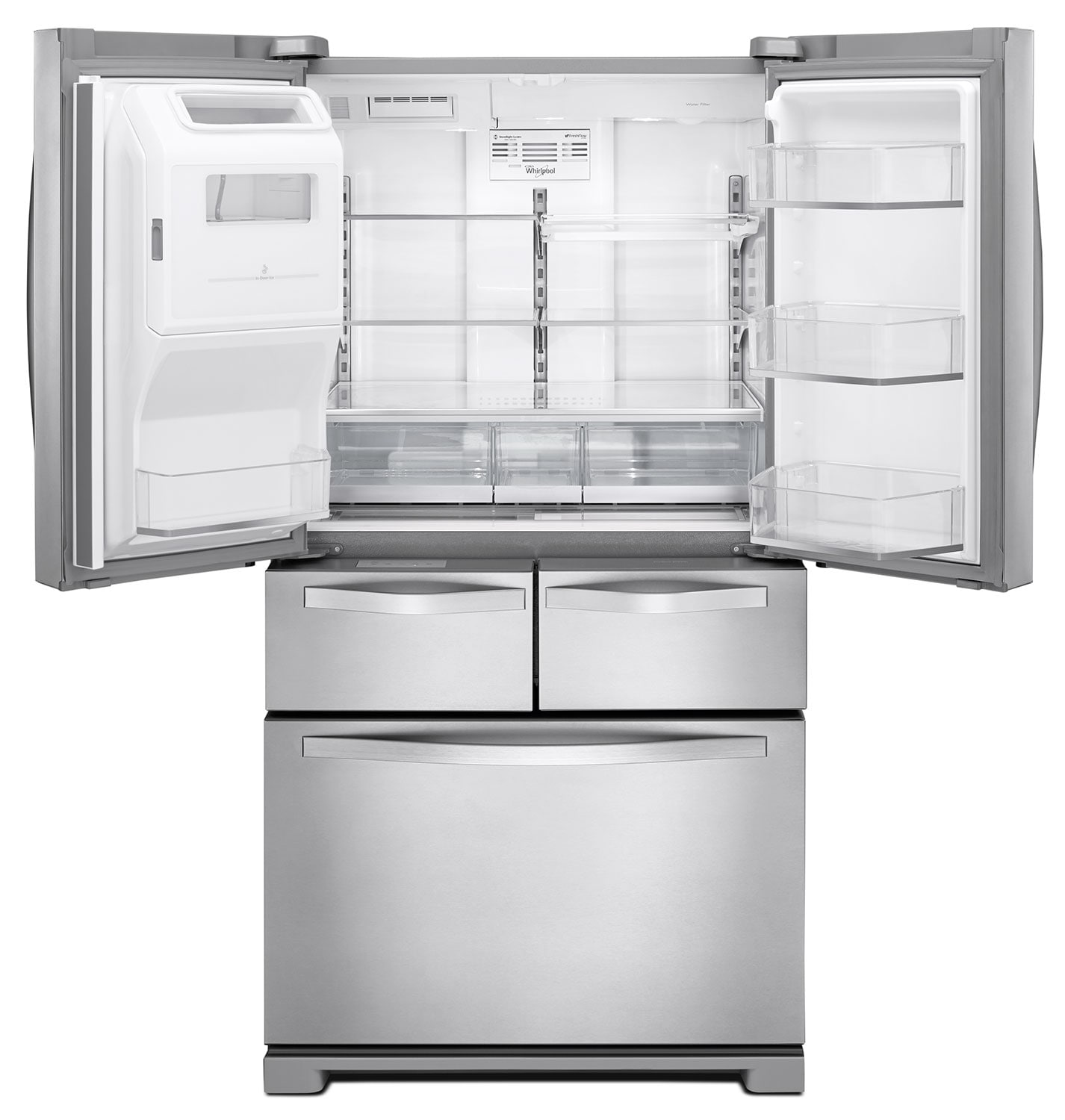 French Door Refrigerators: Whirlpool Stainless Steel French Door Refrigerator (25.8
