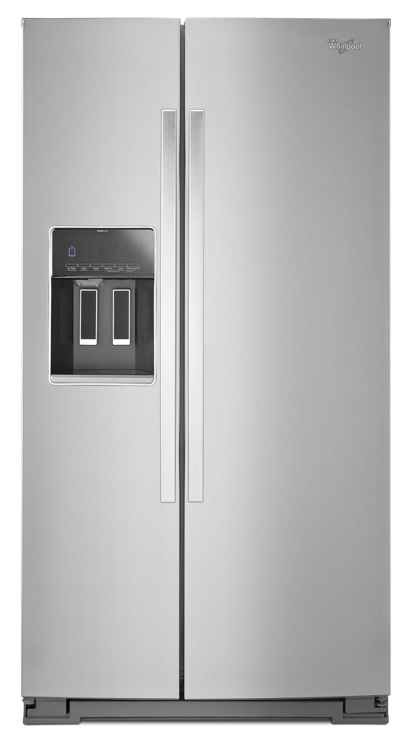 Refrigerators and Freezers - Whirlpool Stainless Steel Side-by-Side Refrigerator (25.6 Cu. Ft.) - WRS586FIEM