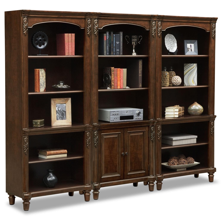 ashland wall bookcase cherry american signature furniture