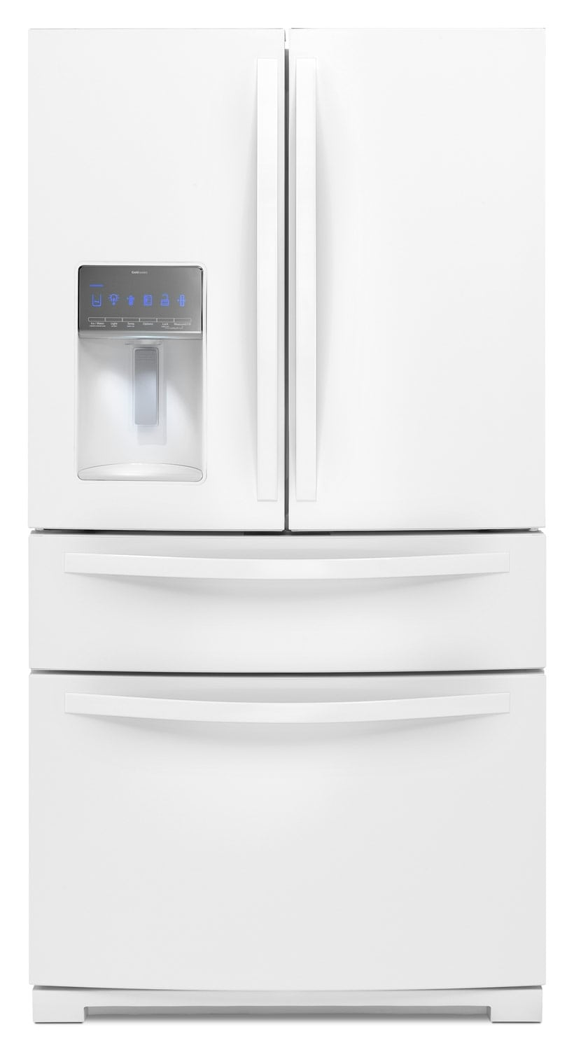 [Whirlpool White French Door Refrigerator (26.2 Cu. Ft.) - WRX988SIBW]