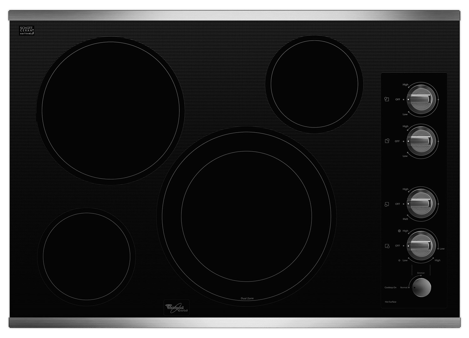 "Cooking Products - Whirlpool Gold® 30"" Electric Cooktop – G7CE3034XP"