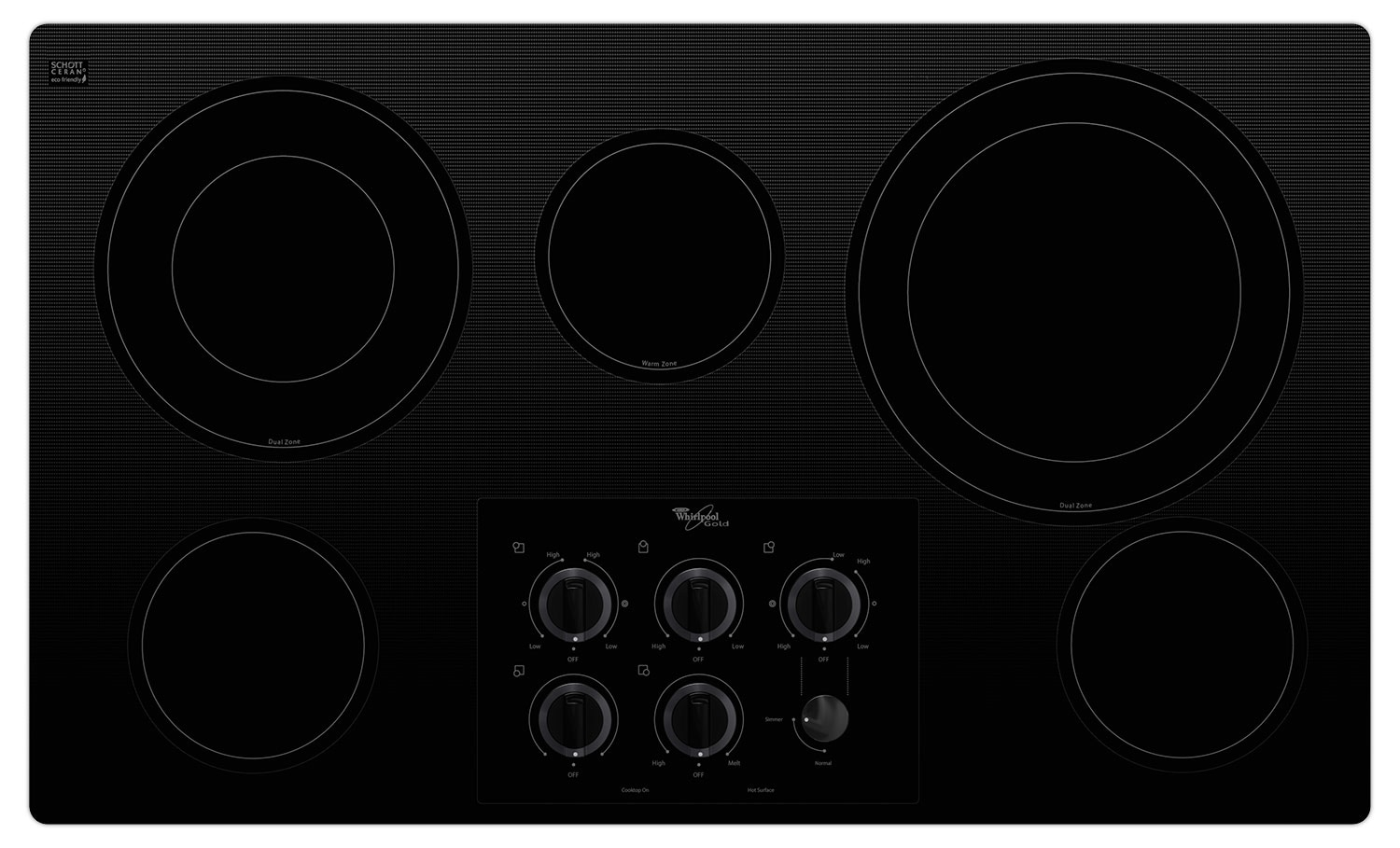 "Cooking Products - Whirlpool Gold® 36"" Electric Cooktop – G7CE3635XB"