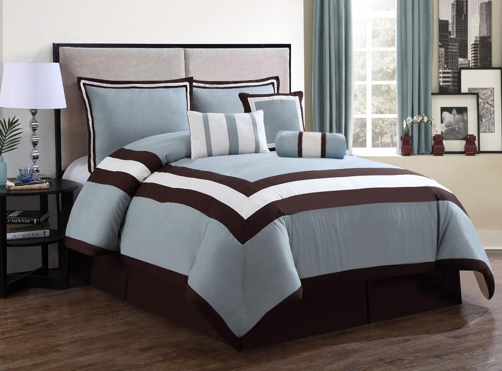 Mattresses and Bedding - Sydney 7-Piece King Comforter Set