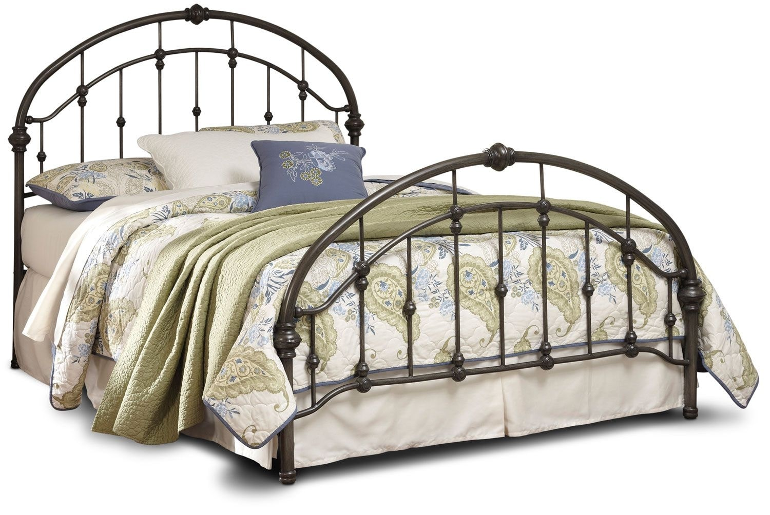 Queen Beds Metal: Nashburg Queen Metal Bed – Bronze
