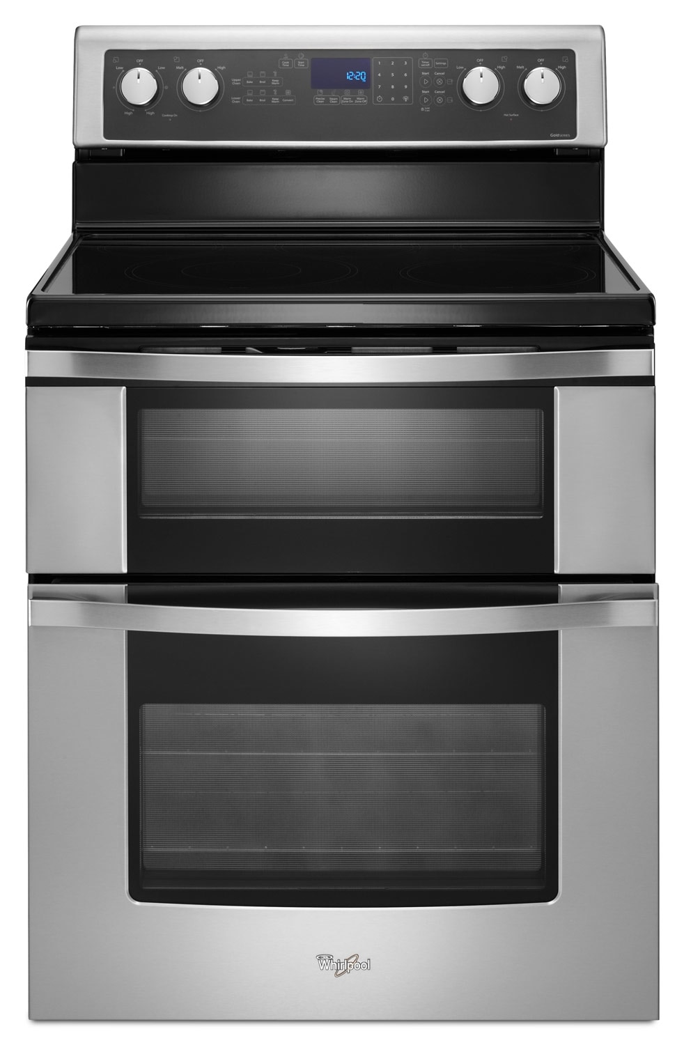 Cooking Products - Whirlpool Stainless Steel Freestanding Double Electric Range (6.7 Cu. Ft.) - YWGE755C0BS