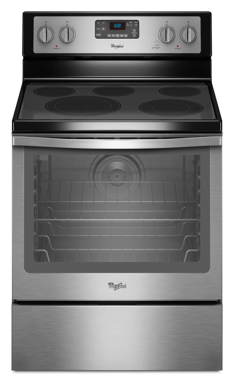 [Whirlpool Stainless Steel Freestanding Electric Convection Range (6.4 Cu. Ft.) - YWFE540H0ES]