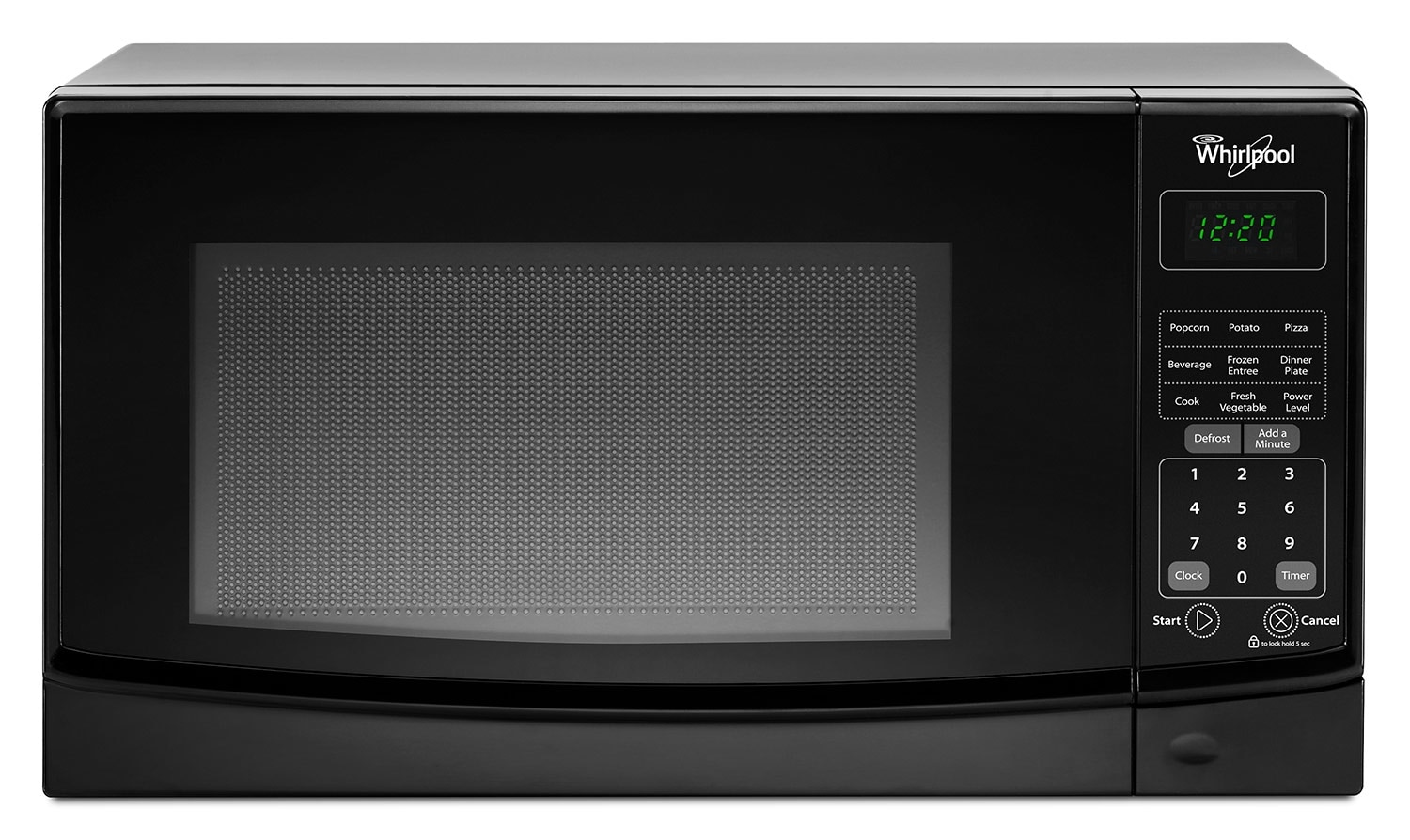 Cooking Products - Whirlpool Black Microwave (0.7 Cu. Ft.) - WMC10007AB