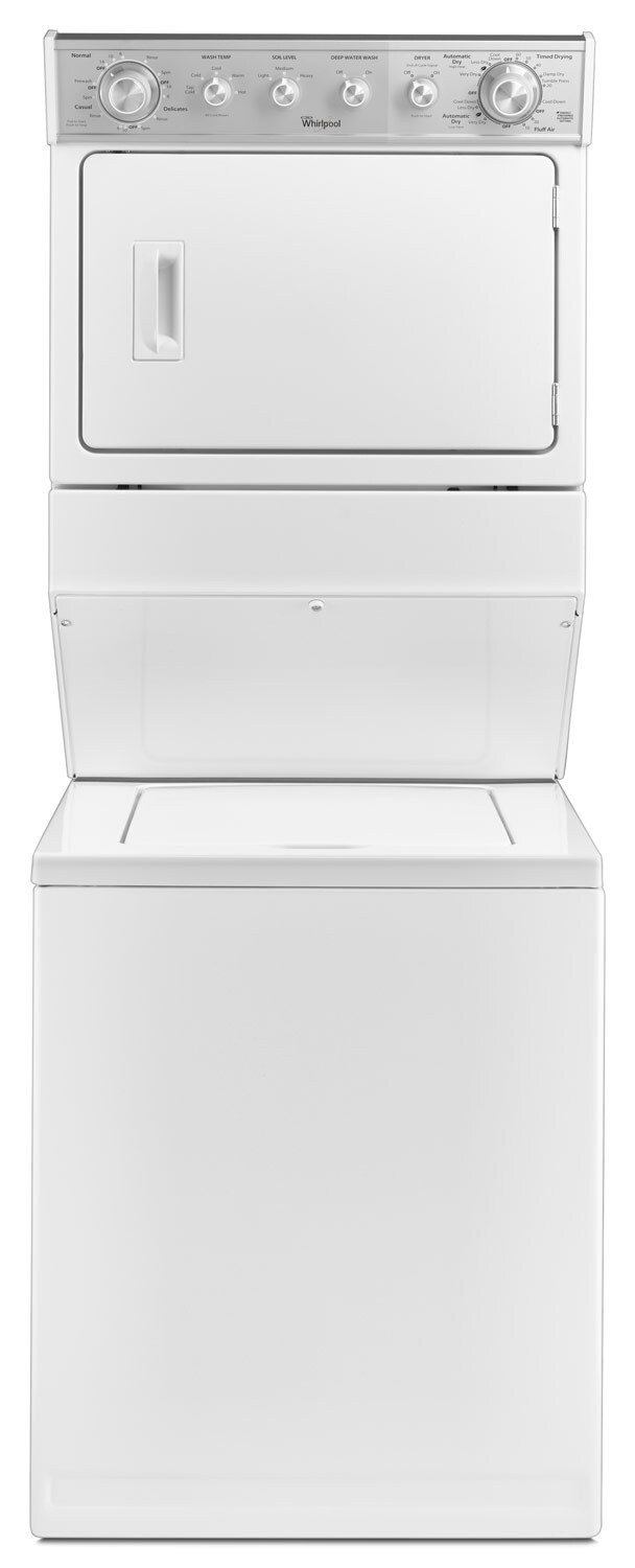 Washers and Dryers - Whirlpool White Electric Laundry Centre - YWET4027EW