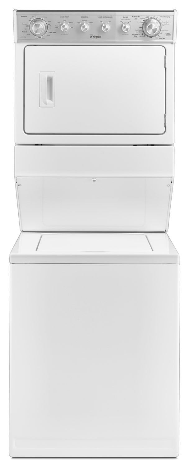 Washers and Dryers - Whirlpool 8.4 Cu. Ft. Combination Washer and Gas Dryer – WGT4027EW