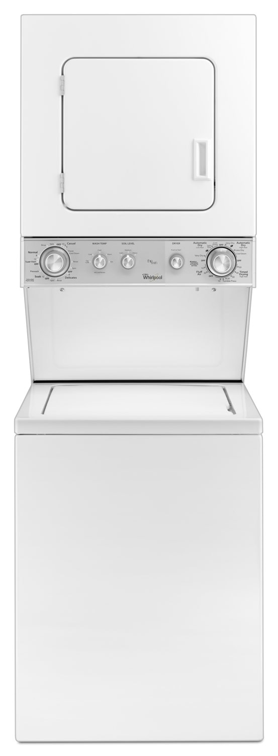 Washers and Dryers - Whirlpool White Electric Laundry Centre - YWET4024EW