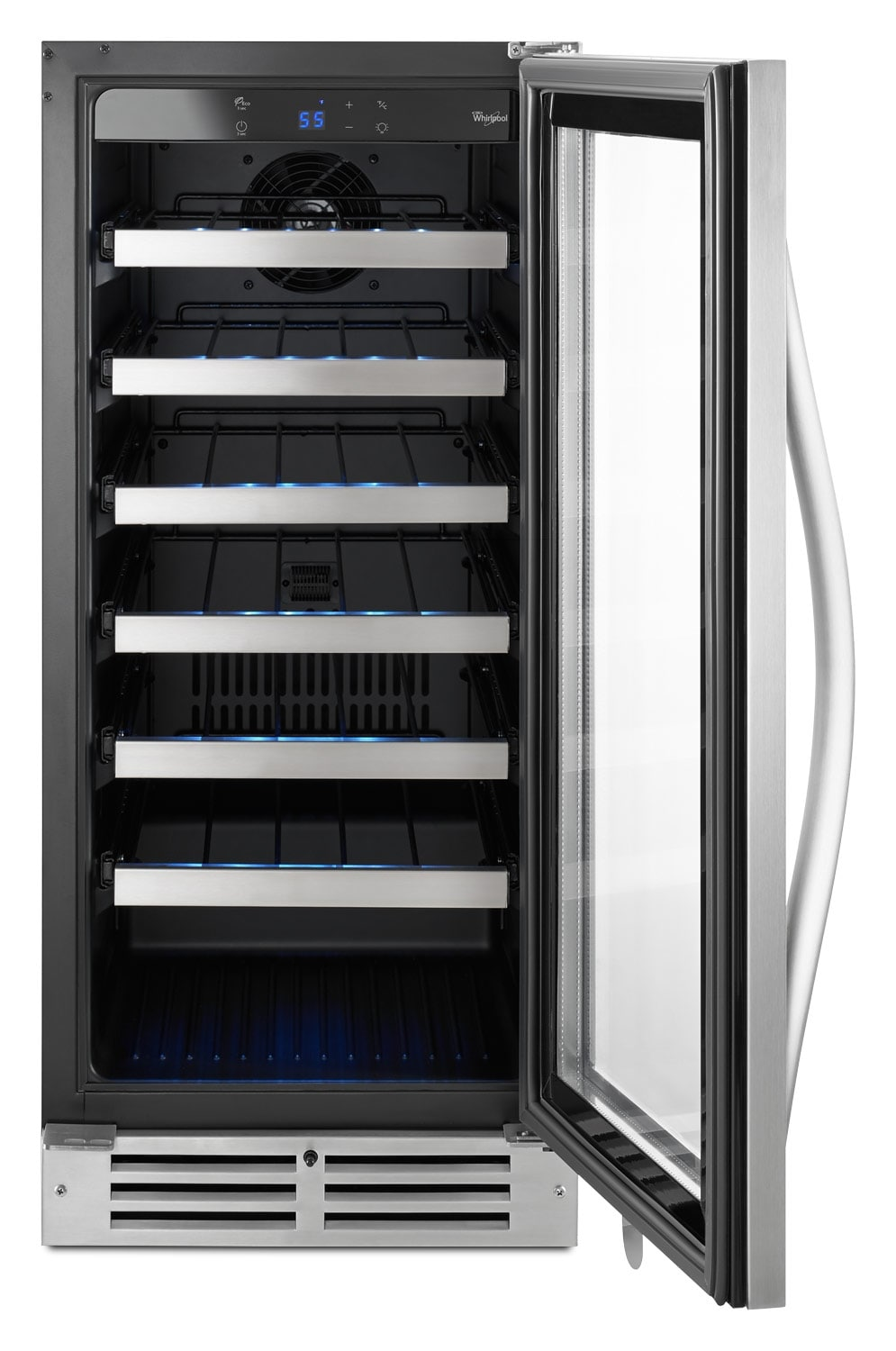 whirlpool stainless steel wine cooler  wuwxds  leon's - whirlpool stainless steel wine cooler  wuwxds