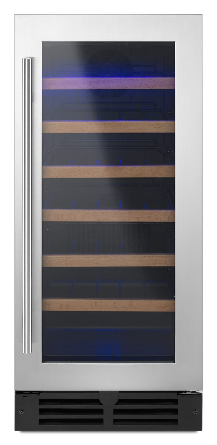 whirlpool stainless steel wine cooler  wuwxds  leon's -  stainless steel wine cooler  wuwxds hover to zoom
