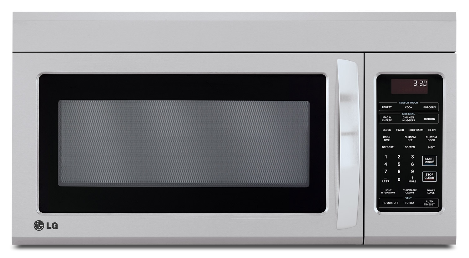 Cooking Products - LG Appliances Stainless Steel Over-the-Range Microwave (1.8 Cu. Ft.) - LMV1852ST