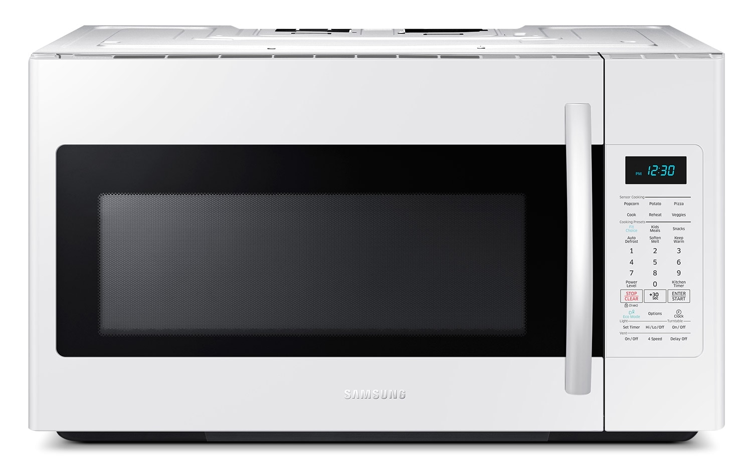 [Samsung White Over-the-Range Microwave (1.8 Cu. Ft.) - ME18H704SFW/AC]