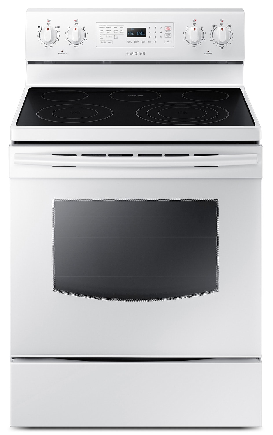Cooking Products - Samsung White Freestanding Electric Convection Range (5.9 Cu. Ft.) - NE59J3420SW/AC