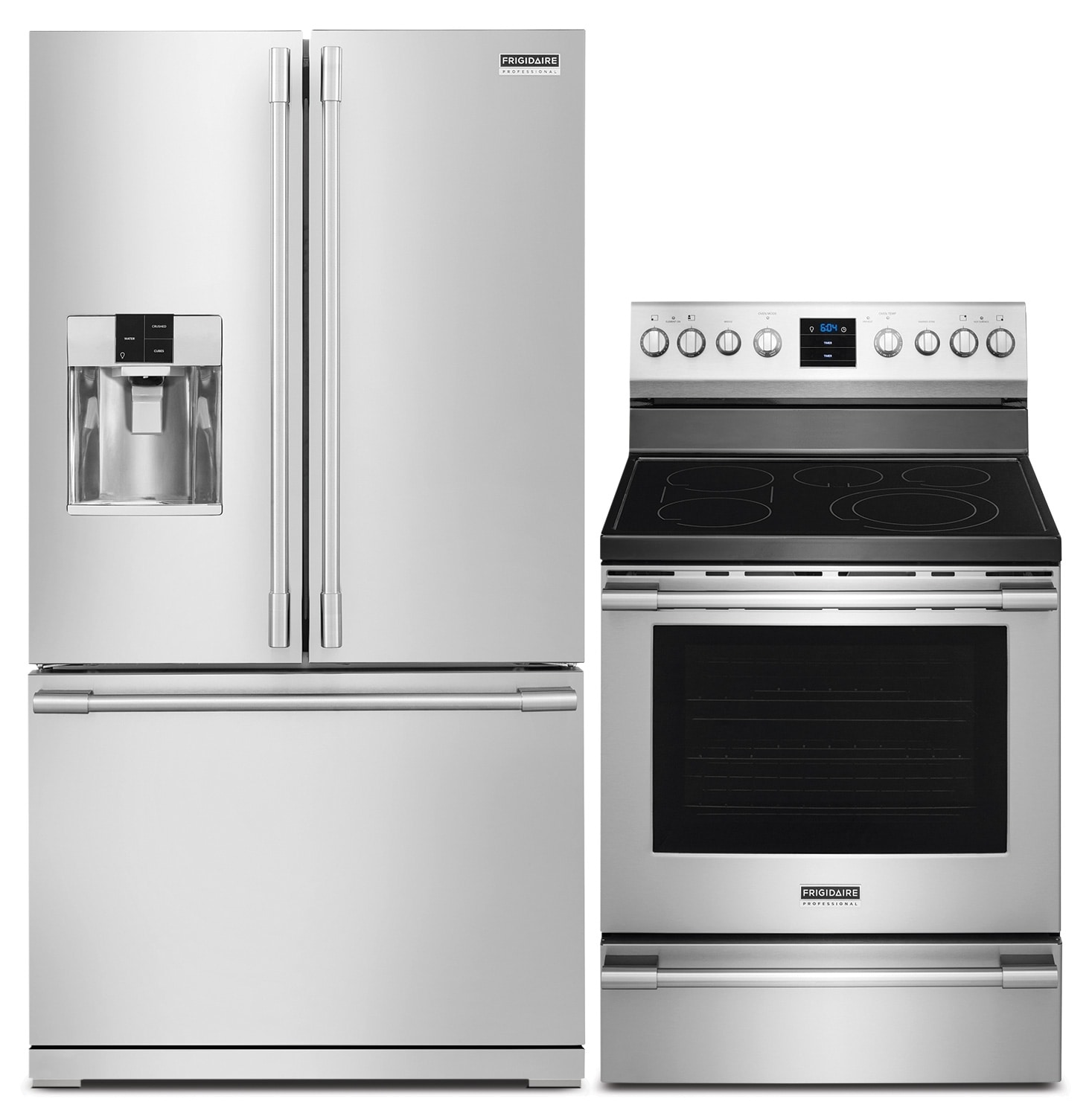 Cooking Products - Frigidaire 27.8 Cu. Ft. Refrigerator and Convection Range - Stainless Steel