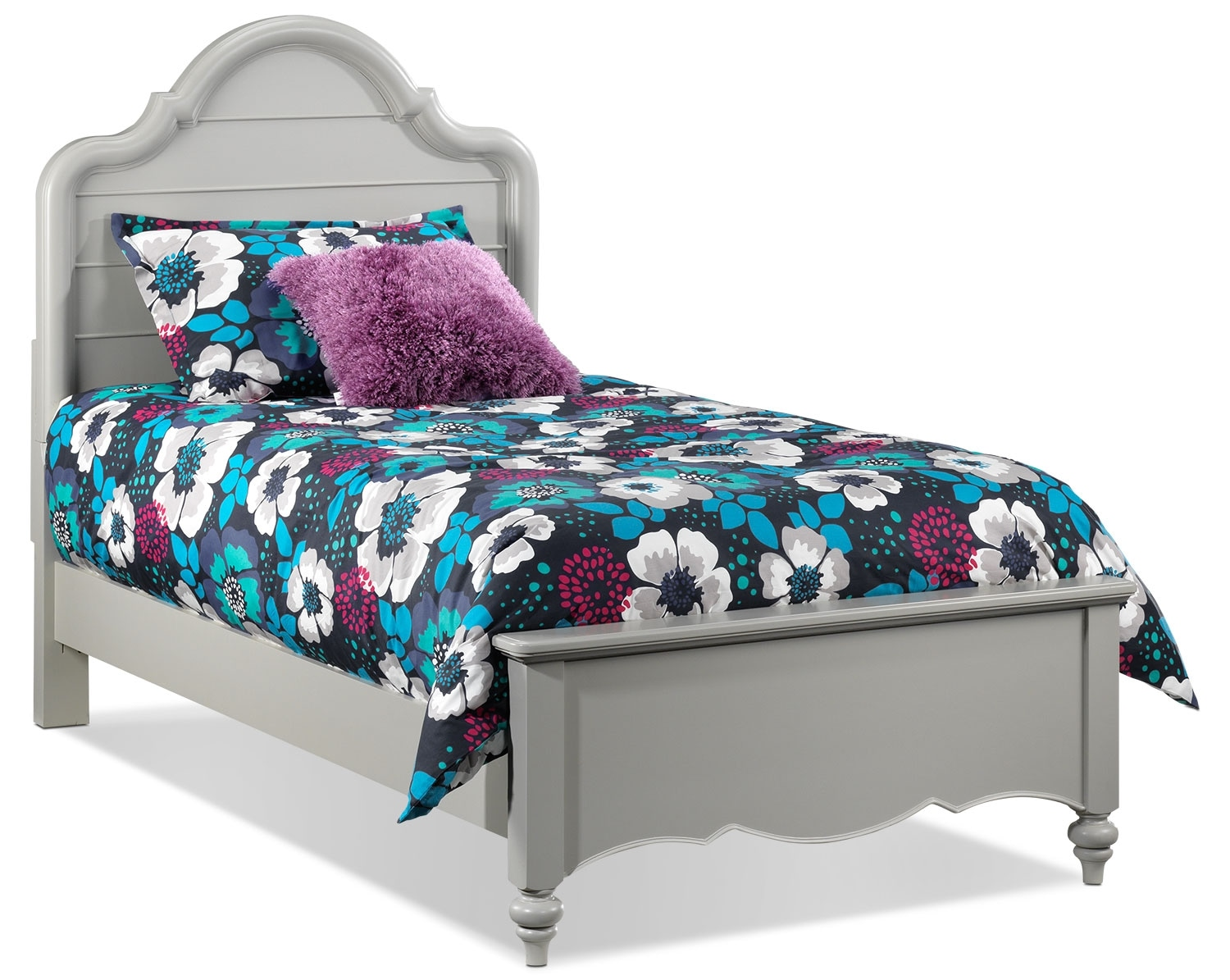 Kids Furniture - Chris Twin Bed - Mushroom