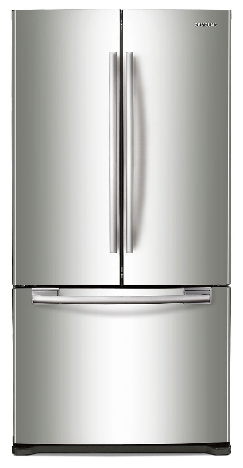 Refrigerators and Freezers - Samsung 17.5 Cu. Ft. French Door Refrigerator - Stainless Steel