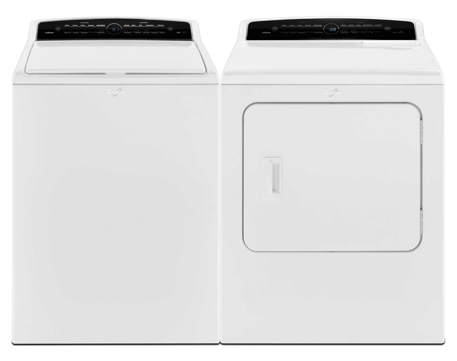 [Whirlpool White Top-Load Laundry Pair]