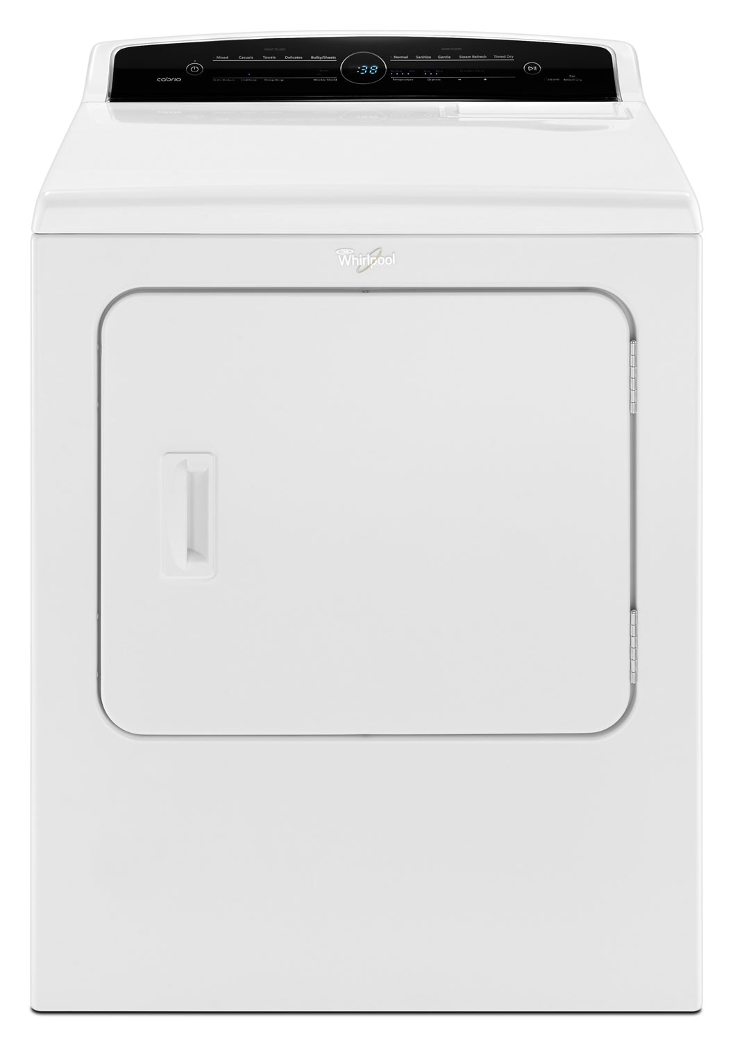 Washers and Dryers - Whirlpool White Gas Dryer (7.0 Cu. Ft.) - WGD7300DW