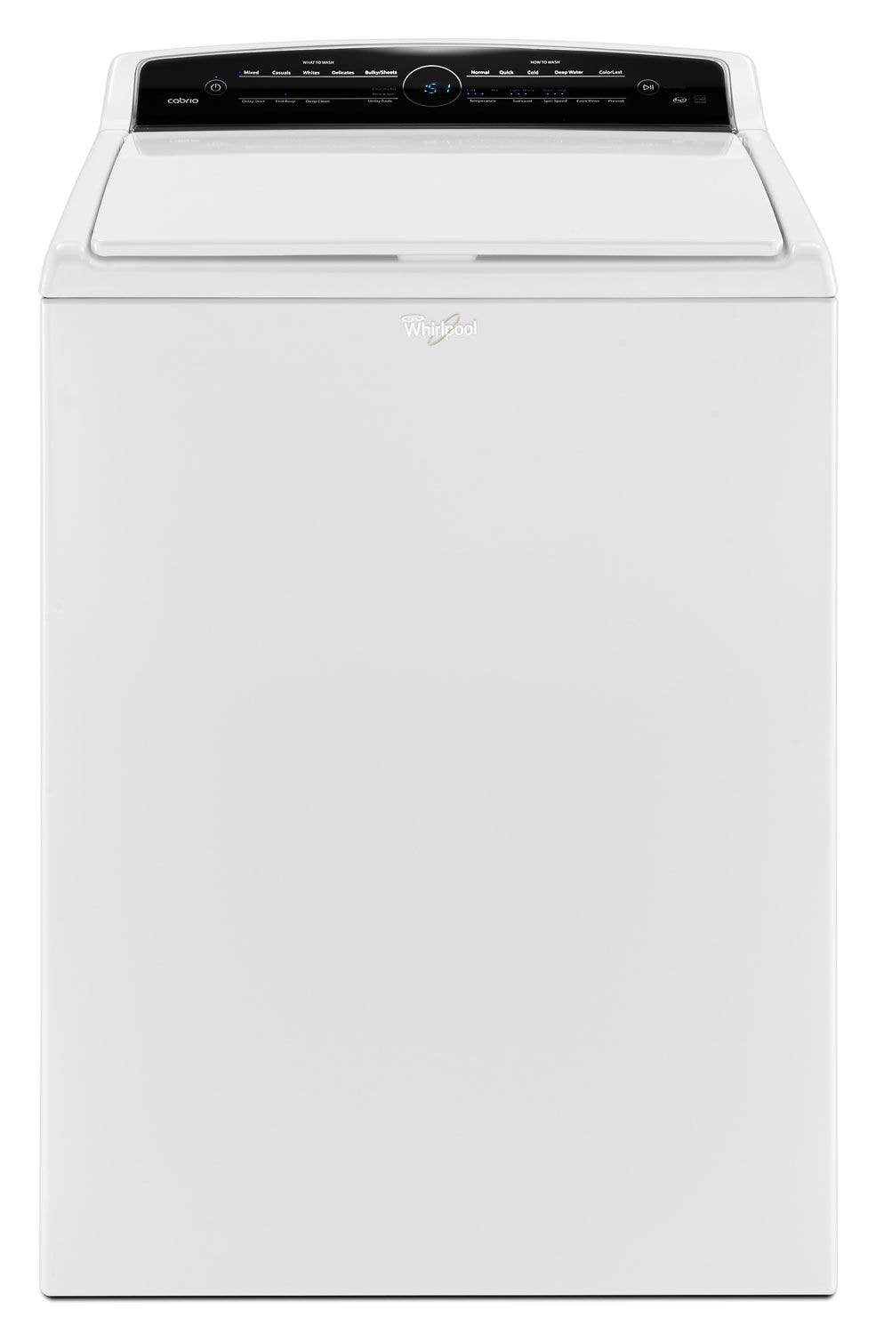 Washers and Dryers - Whirlpool White Top-Load Washer (5.5 Cu. Ft.) - WTW7000DW