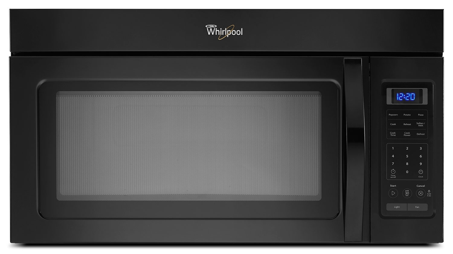 Cooking Products - Whirlpool Black Over-the-Range Microwave (1.7 Cu. Ft.) - YWMH31017AB