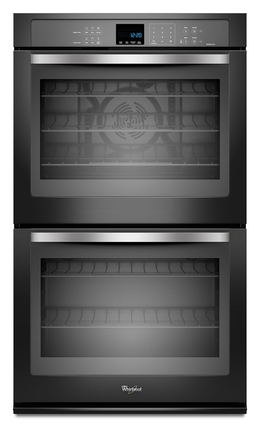 Cooking Products - Whirlpool Black Convection Double Wall Oven (10 Cu. Ft.) - WOD93EC0AE