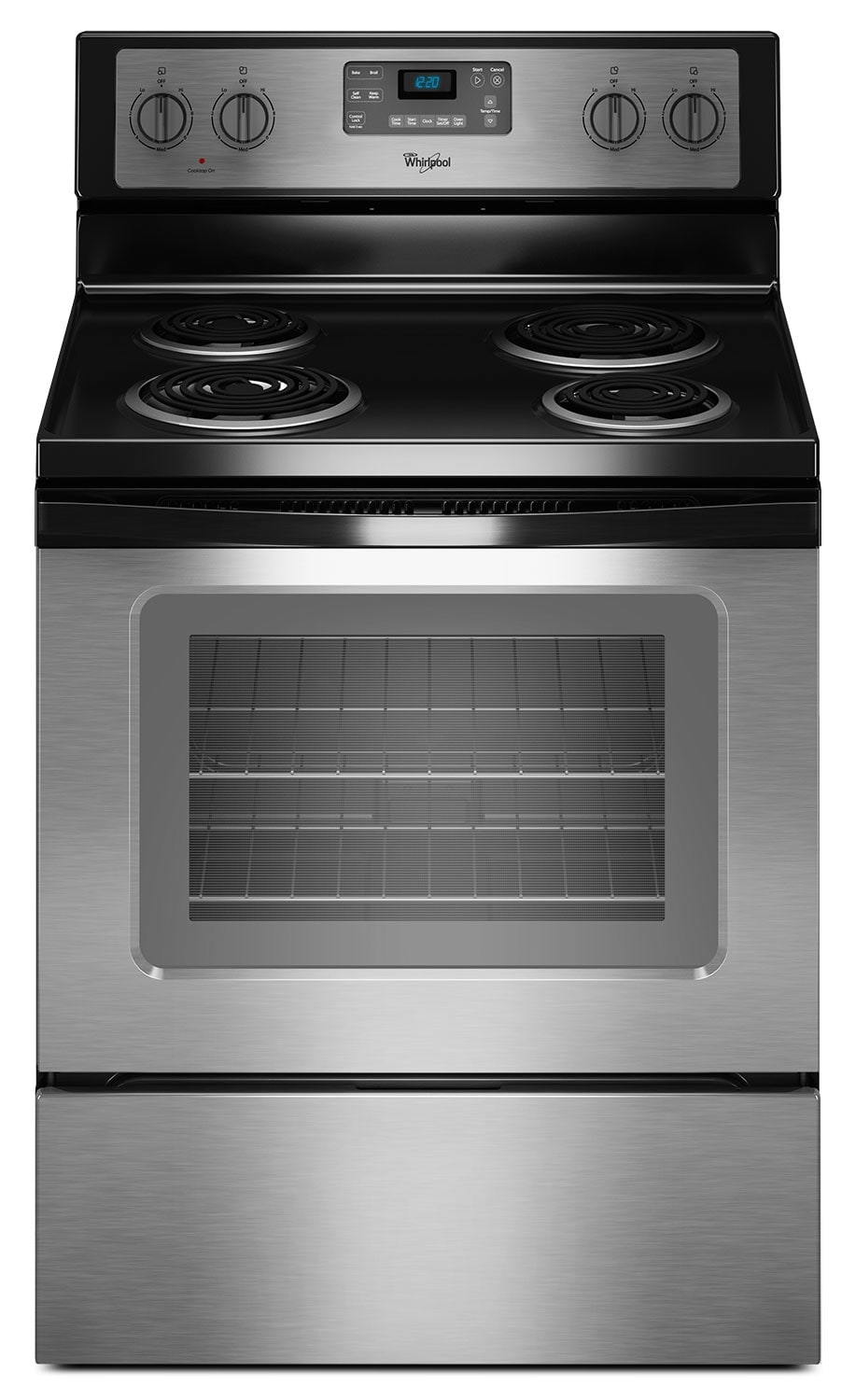 Whirlpool Stainless Steel Electric Range 4 8 Cu Ft