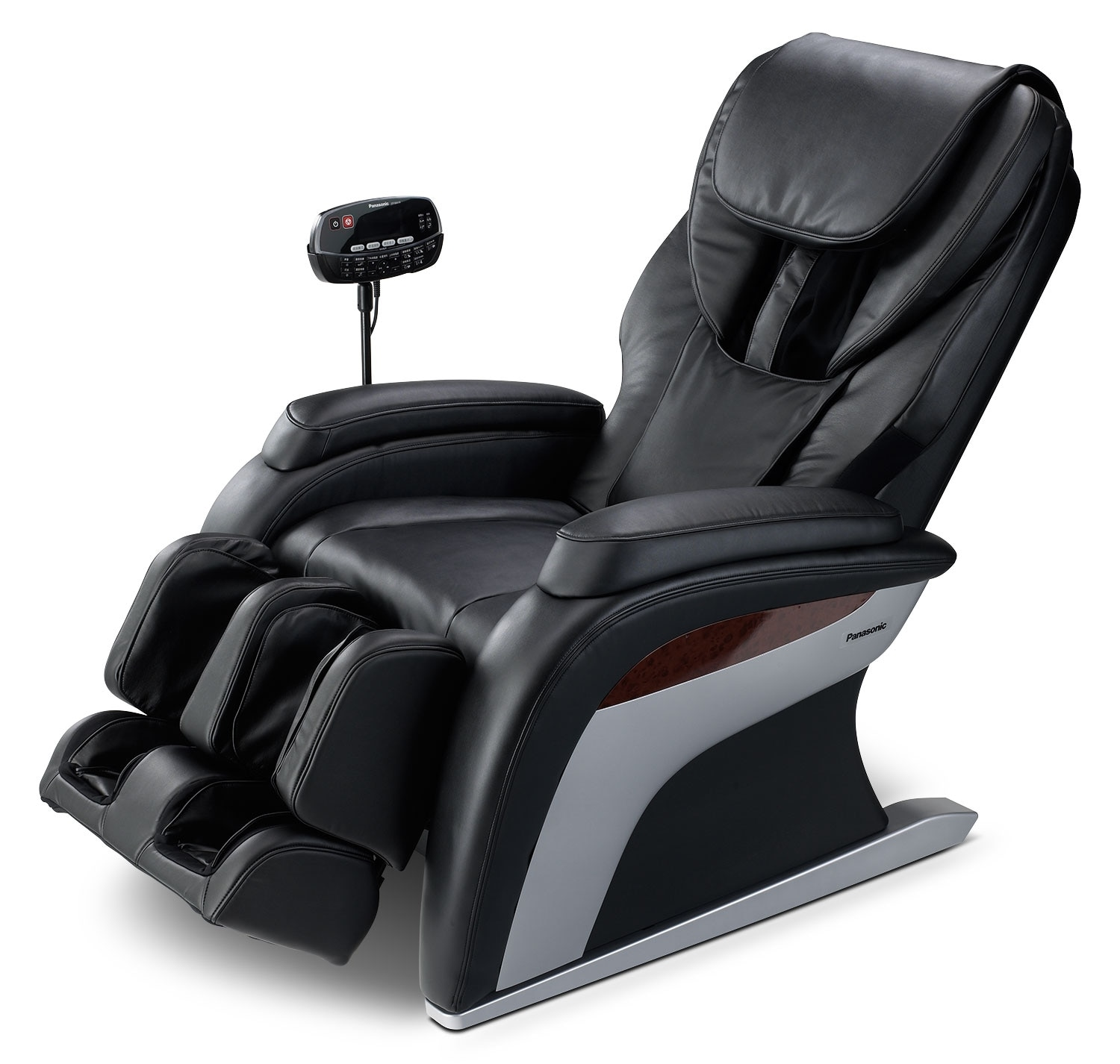 Living Room Furniture - Panasonic Urban Collection Reclining Massage Chair - Black