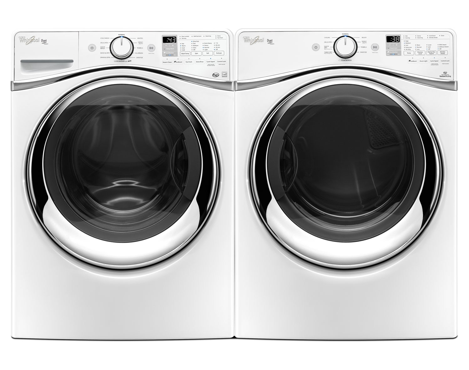 Whirlpool White Front-Load Laundry Pair