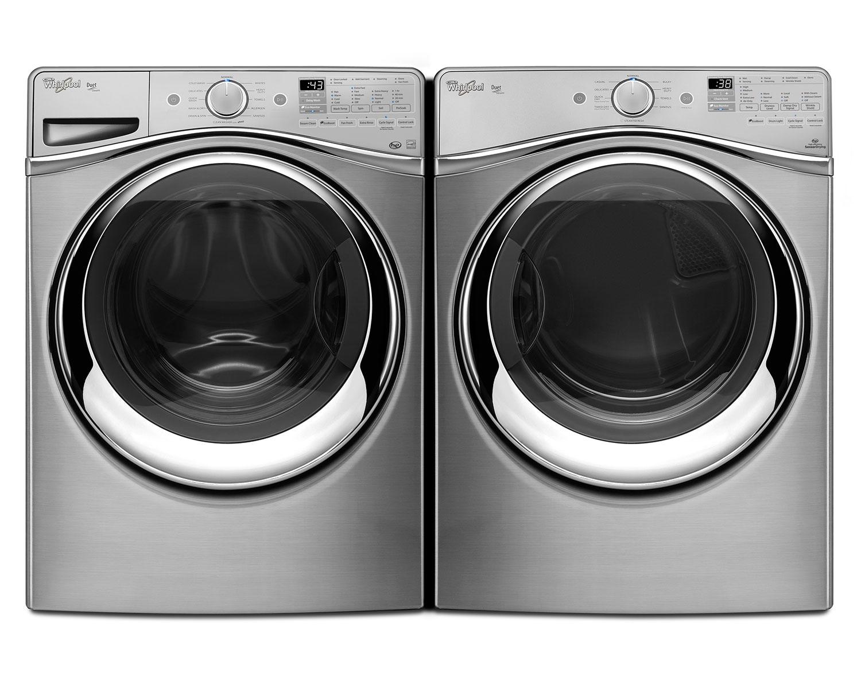 [Whirlpool Diamond Steel Front-Load Laundry Pair]