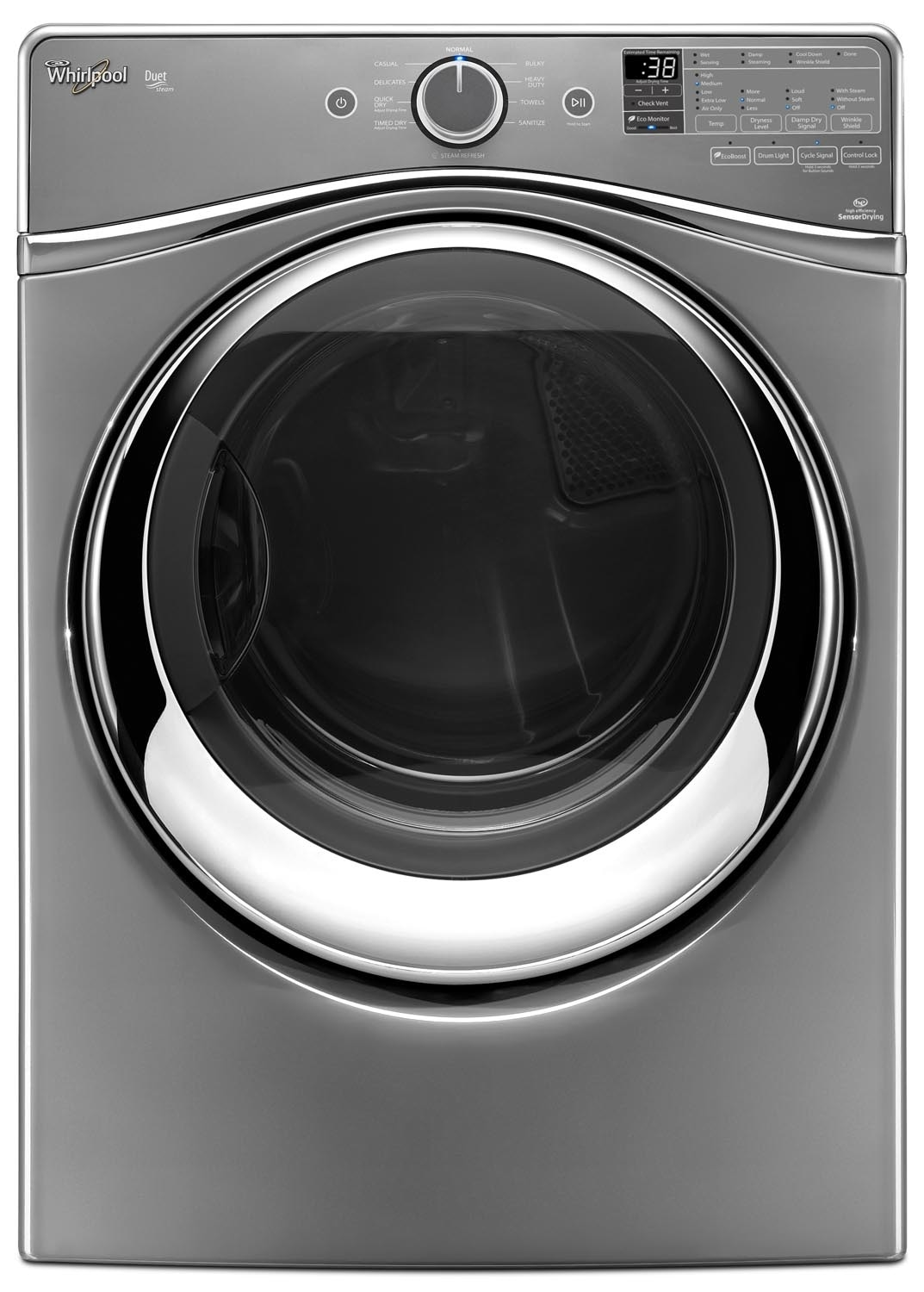 Washers and Dryers - Whirlpool Chrome Shadow Gas Dryer (7.3 Cu. Ft.) - WGD95HEDC